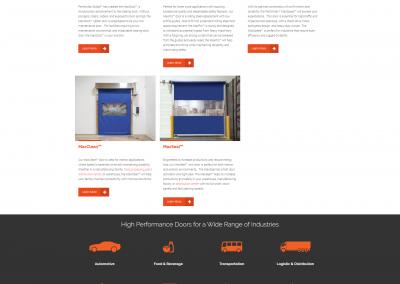 Performax Global Website Homepage Designed by Jacob Lange