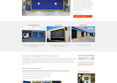 Performax Global Product Detail Page Designed by Jacob Lange